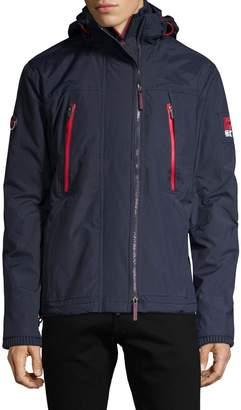 Superdry Logo Full-Zip Faux Fur Trim Hooded Jacket