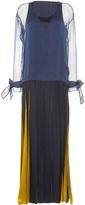 Alexis Mabille Long Crepe Ribbon Dress
