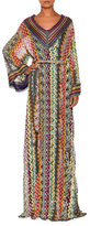 Missoni Belted V-Neck Long Caftan, Multi