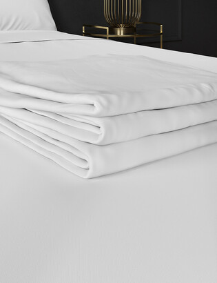 Marks and Spencer Egyptian Cotton 400 Thread Count Percale Flat Sheet