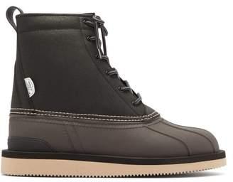 Suicoke Alal Wpab Lace Up Leather Boots - Mens - Black