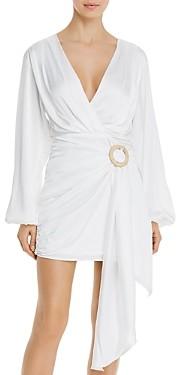 WAYF Attina Faux-Wrap Mini Dress