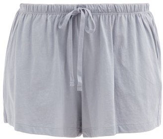 Skin Casey Organic Pima-cotton Pyjama Shorts - Light Blue