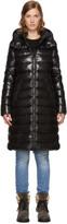 Moncler Black Down Moka Coat