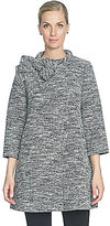CeCe Stretch Tweed Mock Neck with Bow Jacket