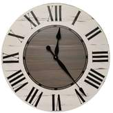Gracie Oaks Oversized Vanwagoner Farmhouse Wall Clock