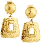Jose & Maria Barrera Hammered Link Drop Earrings