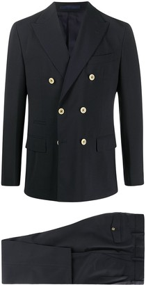 Eleventy Double-Breasted Two-Piece Suit