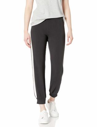 Monrow Women's Basic Cuff Sweats W/Contrast Stripes