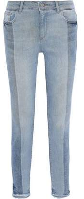 DL1961 Margaux Two-tone Mid-rise Skinny Jeans