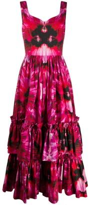 Alexander McQueen Mirror Printed Long Dress
