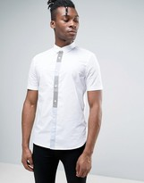 French Connection Short Sleeve Shirt in Regular Fit with Patch Placket