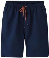 LETSQK Men's Swim Trunks Solid Quick Dry Beach Surfing Running Board Shorts L