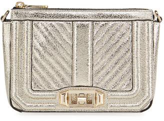 Rebecca Minkoff Love Small Chevron Quilted Crossbody Bag - Silver Hardware