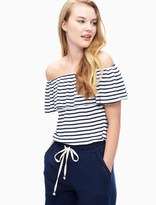Splendid 1X1 Venice Stripe Off Shoulder Top