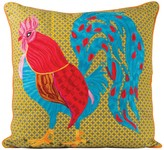 Karma Living Rooster Pillow - 20 x 20 - Turquoise