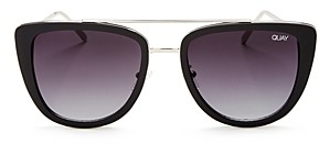Quay Women's French Kiss Oversized Square Sunglasses, 54mm