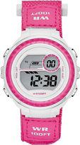 JCPenney FASHION WATCHES Womens Nylon Strap Digital Sport Watch