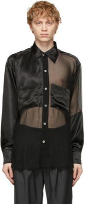 Enfants Riches Deprimes Black Silk Assemblage Shirt