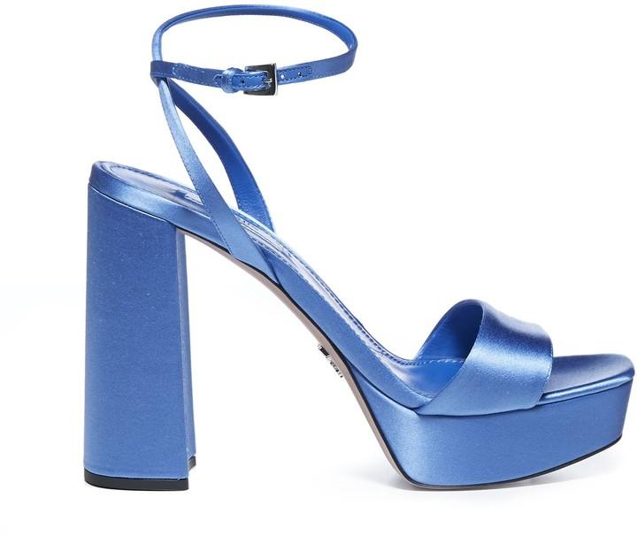 Prada Block Heel Platform Sandals