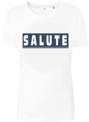 Fanclub Salute Retro Slogan T-Shirt