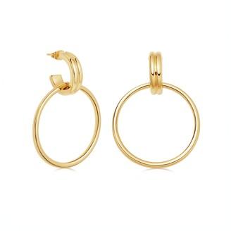 Missoma Gold Ancien Chandelier Hoop Earrings
