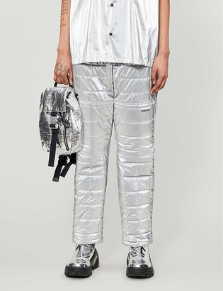Ambush High-rise quilted cotton shell trousers