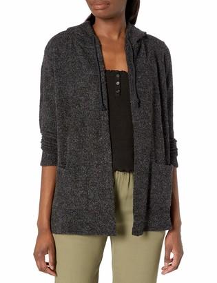 Lucky Brand Women's Long Sleeve Open Front Swit Hooded Cardigan Sweater