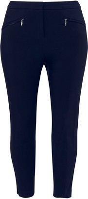 Evans Navy Blue Stretch Tailored Trousers