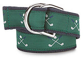 Brooks Brothers Golf-Embroidered Belt