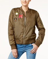 Say What Juniors' Patch Bomber Jacket