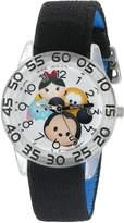 Disney Boy's 'Mickey Mouse' Quartz Plastic and Nylon Automatic Watch, Color: (Model: W003008)