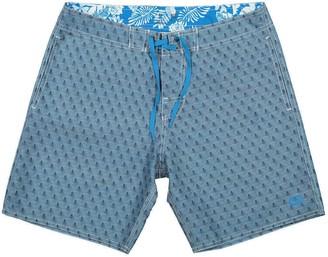 Panareha Opunoho Beach Shorts in Blue