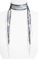 Chan Luu Women's Beaded Floral Tie Necklace