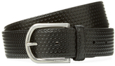 a. testoni Embossed Leather Belt