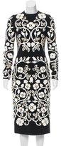 Dolce & Gabbana 2015 Floral Appliqué Dress