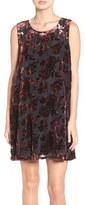 BB Dakota Women's 'Britannia' Burnout Velvet Trapeze Dress