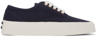 MAISON KITSUNÉ Navy Laced Sneakers