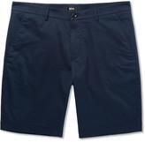 HUGO BOSS Crigan Slim-fit Stretch-cotton Shorts - Navy