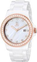 Jivago Women's JV9412 Ceramic Analog Display Quartz White Watch