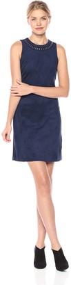 Jessica Simpson Women's Sleeveless Faux Suede Shift Dress