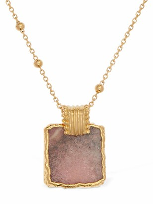 Missoma Rhodochrosite Lena Charm Long Necklace