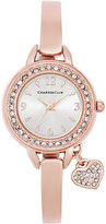 Charter Club Women's Rose Gold-Tone Bangle Bracelet Watch with Heart Charm 26mm, Only at Macy's