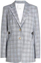 Tibi Cooper Wool Blazer with Cut-Out Detail