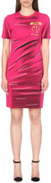 Moschino Crease-print cotton-jersey dress