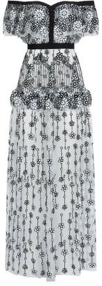 Self-Portrait Deco Sequin Maxi Dress
