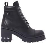 Miu Miu Laced leather ankle boots