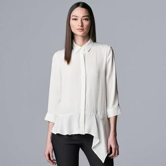 Women's Simply Vera Vera Wang Asymmetrical-Hem Blouse