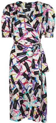 Marc Jacobs Printed satin wrap dress