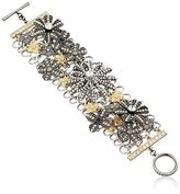 """m. haskell Purple by Garden Party"""" Two-Tone Mixed Flower Toggle Bracelet"""